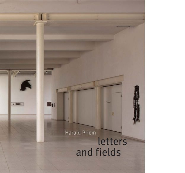 Vorderseite Katalog Harald Priem. Letters and fields