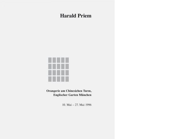Vorderseite Katalog Harald Priem. Zeitspuren